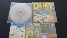 AC/DC (Rare!) / Duff McKagan (Former bassplayer of Guns 'n Roses) / Deep Purple / Iron Maiden / Girlschool: Great lot of 2 limited LP's and 3x 7inch single