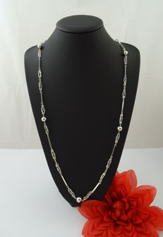 Silver, 835 kt necklace, 91 cm