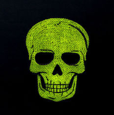 Alessandro Padovan (Drill Monkeys Art Duo) - SKULL YELLOW FLUO