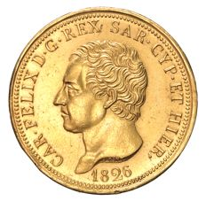 Kingdom of Sardinia – 80 Lira 1826 Turin Carlo Felice – gold