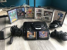 Console Sega Mega Drive 1 boxed including 8 games