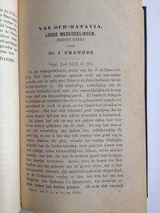 Indonesia; J. Brandes & F. de Haan - Six Articles on Old Batavia - 1900 / 1920