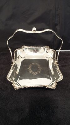 Hamilton laidlaw & co 1906 glasgow/sheffield basket silver plated made in brithish.