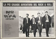 The Beatles / Quatre garçons dans le vent, A hard day's night / Affiche original italian 1964