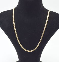 14 carat yellow gold  chain 48 cm