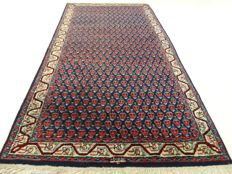 """Mir - 144 x 75 cm - """"Persian rug in blue - In top condition"""" - With certificate."""