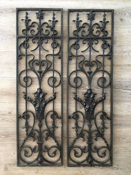 iron window grill indian style two french wrought iron window grills ca 1920 catawiki