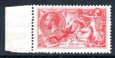 Great Britain King George V 1919 - 5/- Rose Red Seahorse, Stanley Gibbons 416