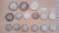 France – Lot of 15 coins 1967/1991 – Silver