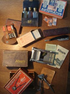 Lot old shaving equipment, total 7 items