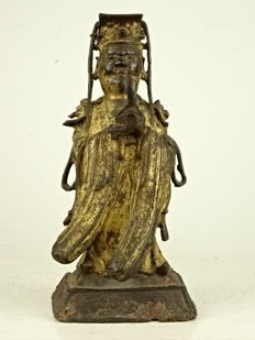 Gilt bronze figure of the Jade Emperor - China - 16th / 17th century