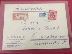 Federation, Berlin, French Zone - 82 letters in letter album