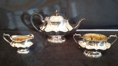 John james durrant london 1874/1897 tea set silver plated made in england.