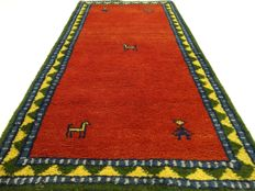 """Gabbeh - 143 x 74 cm - """"Oriental carpet in Great condition"""" - With certificate"""