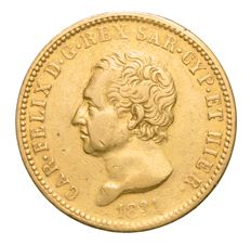 Kingdom of Sardinia — Carlo Felice 40 Lire 1831 Turin — Gold