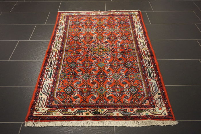 Old high-quality Persian carpet – Hamadan – made in Iran – 103 x 155 cm –