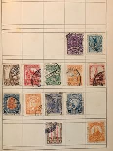 South America - Batch in 4 Stock books and 1 Exchange Booklet