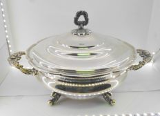 Soup tureen in silver - Spain - circa 1960
