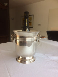 Champagne cooler / wine cooler, silver plated, mid previous century