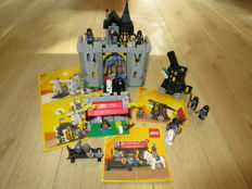 "Castle sub theme black falcons - 6030 - 6041 - 6074 - rare ""vintage"" sets catapult - weapon shop - Black Falcon's fort"