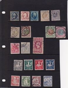 The Netherlands 1852/1935 - Selection of stamps including interrupted perforation and official stamps