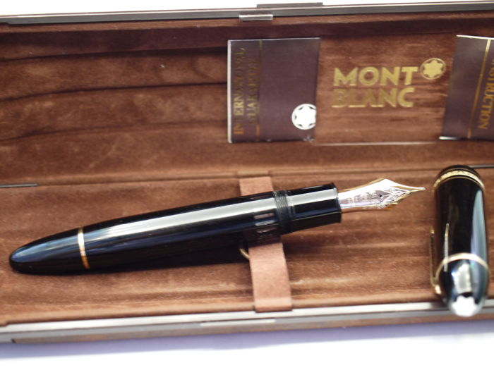 """Montblanc Meisterstück 149 (""""cigar"""") fountain pen - 14k solid gold nib - with original box and papers"""