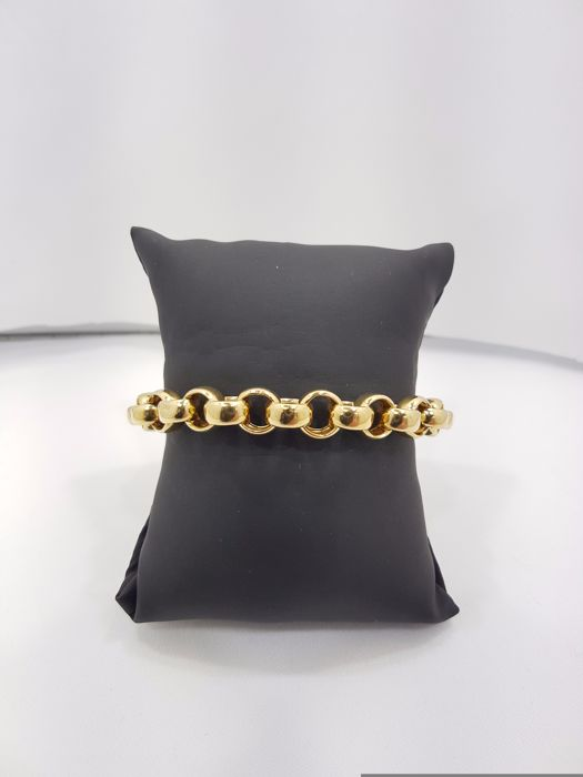 18ct Yellow Gold Cable Bracelet  - 21cm
