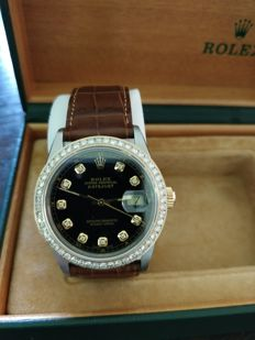 Rolex - 16013 DateJust Perpetual YG/SS, 1.5 ct diamond, from 1985