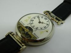 Hebdomas 8 days Men's Marriage Wristwatch circa 1910
