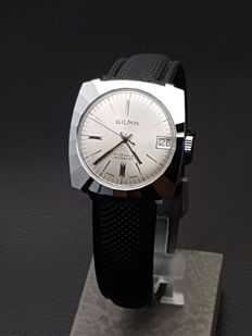 Gilma Silver wave - New Old Stock -  Men´s wristwatch - Swiss - 1970s