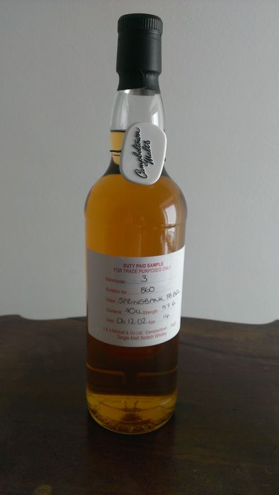 Springbank, Duty Paid Sample , 14 years old Fresh Bourbon Barrel