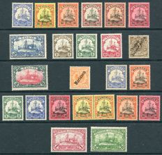 German Colonies, Togo, South West Africa, Marianen, Kiautschou, Cameroon and East Africa 1897/1919 - Small collection