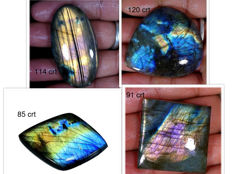 Labradorite lot - full polished - 411.05 ct (4)