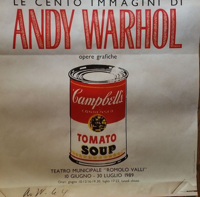 andy warhol after shopping bag poser campbell 39 s tomato soup can catawiki. Black Bedroom Furniture Sets. Home Design Ideas