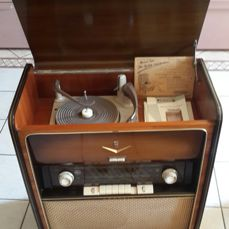 Grunding Musikschrank 7000 / I with original documents - functioning - Germany, 1957 - 1958