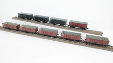 Piko H0 - Eight freight carriages of the NS