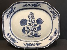Very Large Blue and White Serving Dish - China - 18th Century