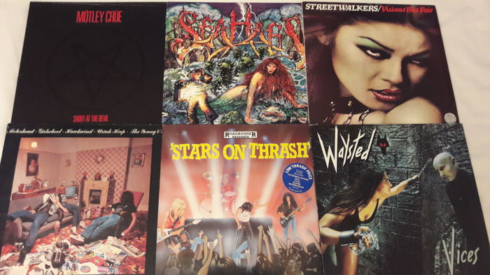 Lot of 6 top Heavy Metal / Hard Rock Vinyl