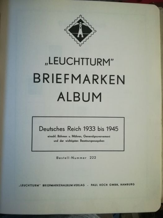 Germany, Third Reich, 1933/1945 – Stamps on album