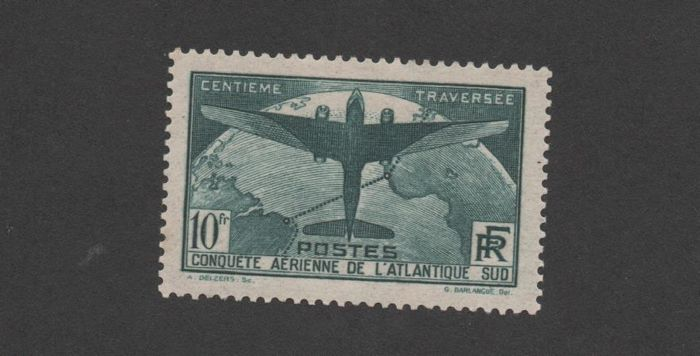France 1937 - Crossing the Atlantic - Yvert no. 321