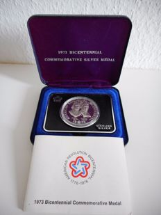 USA - bicentennial commemorative medal - 1973 - 1 Oz Silver