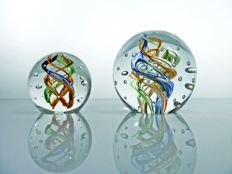 Murano - pair of paperweights