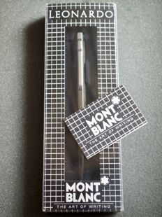 Montblanc Leonardo ballpoint pen - completely new in original box and manual - special design pen