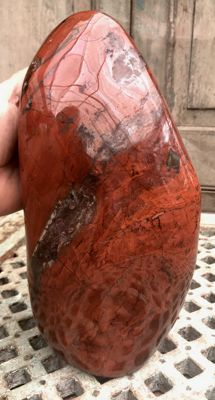 Large polished red Jasper - 29 x 14.5 x 12.5 cm - 8.11 kg