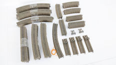 Fleischmann H0 - 6101/6120/6103/Etc. - 74-piece Profi-rails package