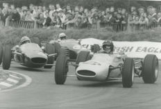 1965 Graham Hill John Surtees  Brands Hatch Lotus Michael Hewett original photograph