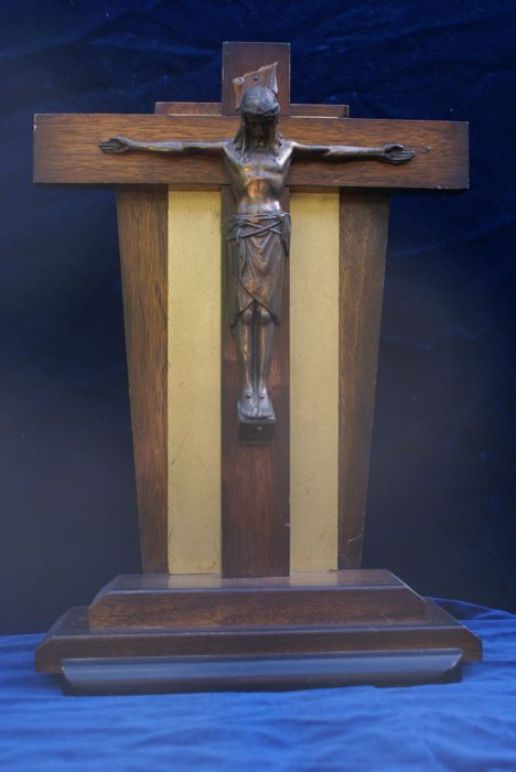 standing crucifix art deco period  , first half 20th century , Ca . 1930s