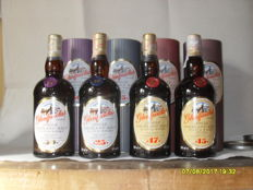 4 bottles Glenfarclas : 15 - 17 - 25 and 30 years old