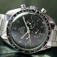 Omega 41mm Speedmaster Chronograph 145.022-71ST Watch on Moon with 1039 Stretch Band