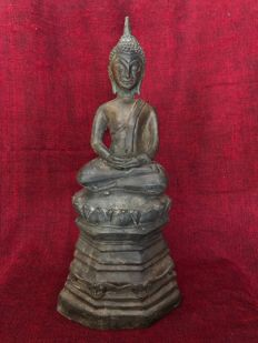 Buddha bronze - Laos - around 1950